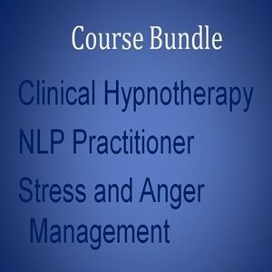 Home Study Course Bundle 1 distance learning Clinical hypnotherapy NLP Stress and anger Course bundle