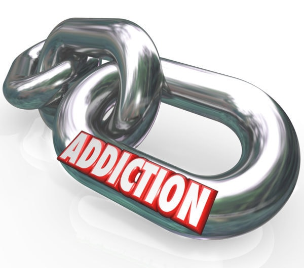 vector of a person addiction specialist written on it