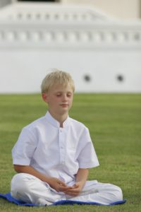 Image of boy using mindfulness for children
