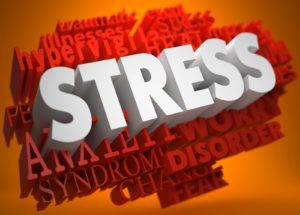 graphic of the words Stress management awareness