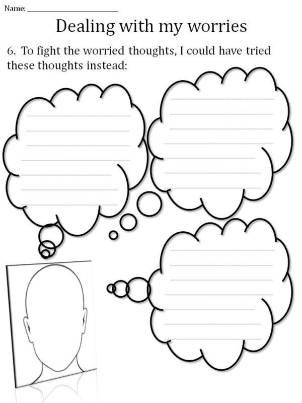 worksheet for CBT in hypnotherapy